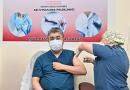VALİ YILMAZ DA  Covid-19 Aşısı oldu