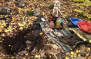 Terör Örgütüne ait sığınakta yaşam malzemeleri ele geçirildi